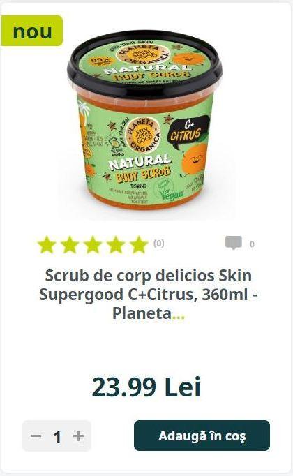 Scrub de corp delicios Skin Supergood C+Citrus, 360ml - Planeta