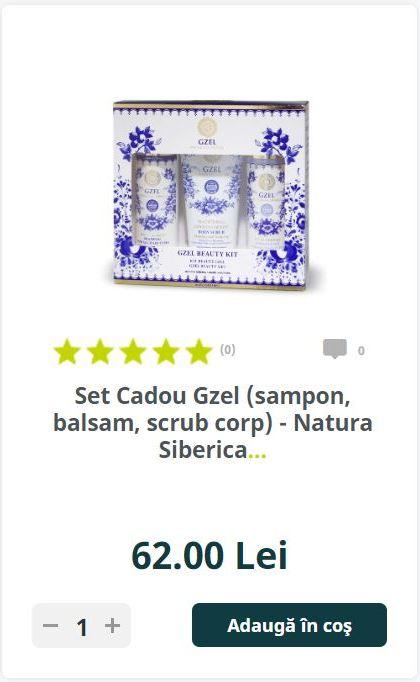 Set Cadou Gzel (sampon, balsam, scrub corp) - Natura Siberica