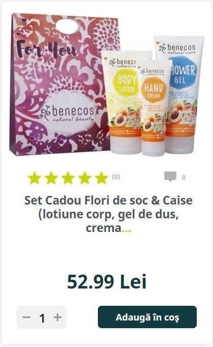 Set Cadou Flori de soc & Caise (lotiune corp, gel de dus, crema...