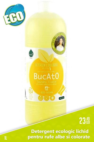 Detergent ecologic lichid pentru rufe albe si colorate cu Portocale, 1L - Biolu