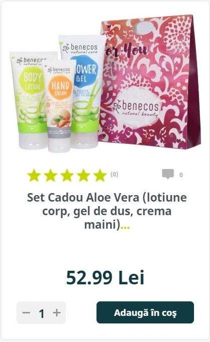 Set Cadou Aloe Vera (lotiune corp, gel de dus, crema maini)...