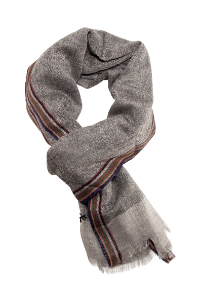 Blødt og lækkert sildebensvævet tørklæde fra Besos