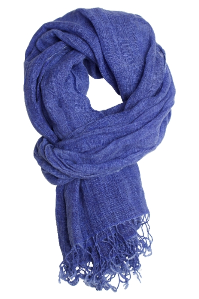 Mother's Day Deal - 20% off this blue scarf in washed linen