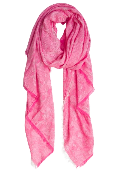 Unique pink scarf