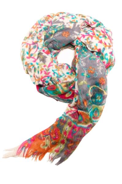 Skønt multicoloured tørklæde/sjal i flotte farver