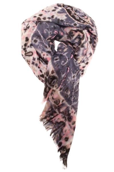 Smukt oversized tørklæde/sjal i skønne farver