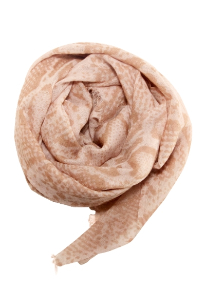 Snake print scarf in beige