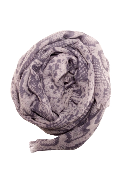 Snake print scarf in grey