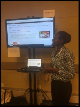 PhD student Esther Kamau presents her research in New York City.