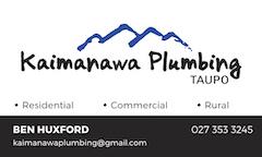 Kaimanawa Plumbing Wairakei Primary School Newsletter sponsor