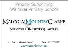 Malcolm Mounsey Clarke Wairakei Primary School Newsletter sponsor