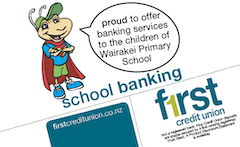First Credit Union Wairakei Primary School Newsletter sponsor