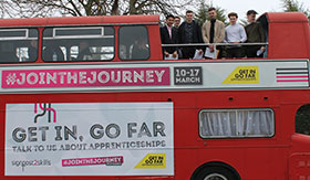 Signpost 2 Skills bus raises awareness of apprenticeships