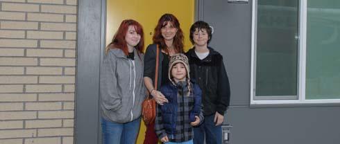 Family at Stephens Creek Crossing
