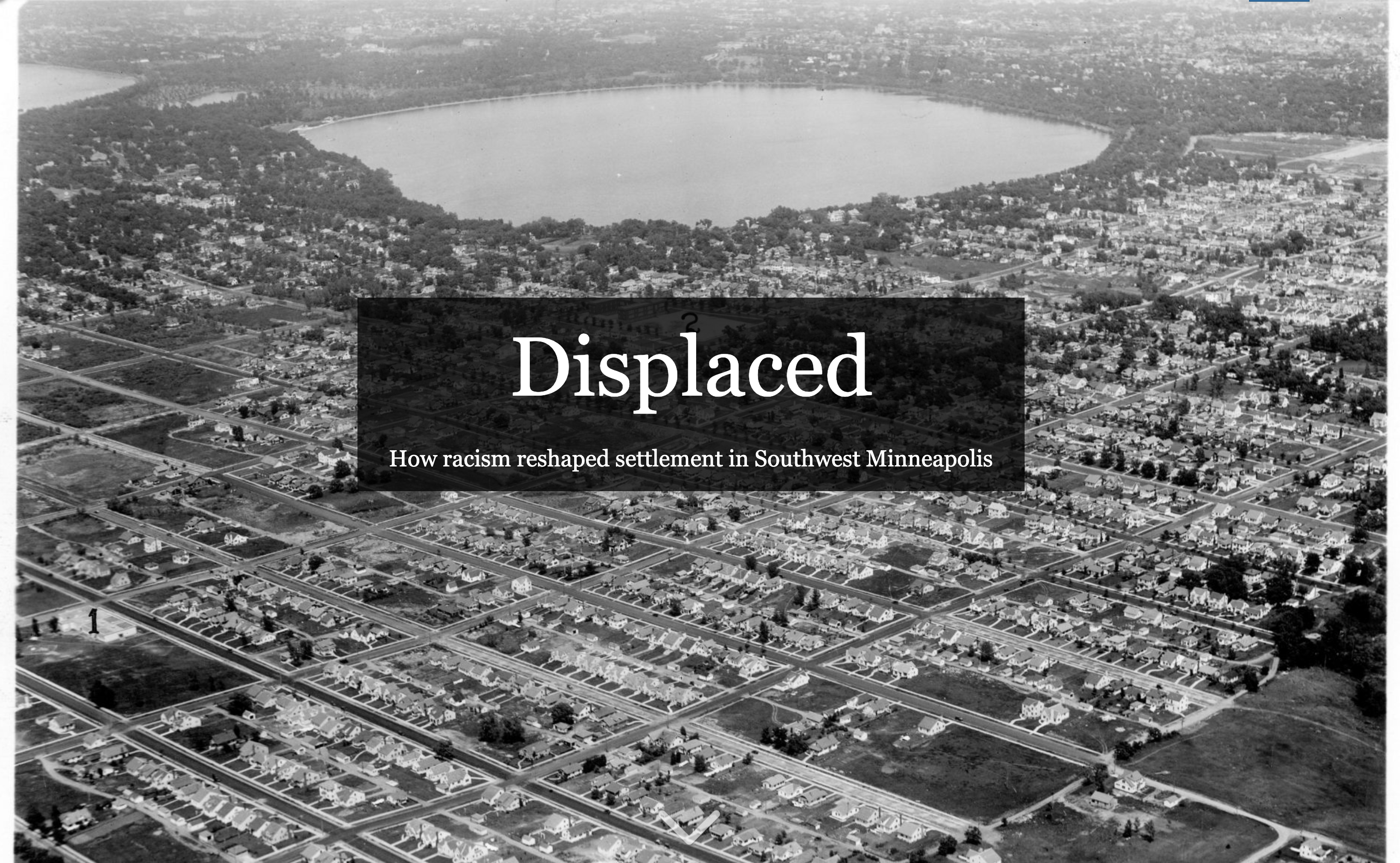 "an event poster for Tuesday, June 11th: ""Displaced"" exhibit opening at Linden Hills library."