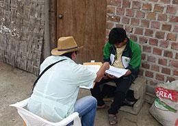 Conducting research in Peru