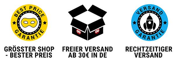 Unser Service: Versandkostenfrei ab 30€ in Dtl. + Kundenhotline + Best Price Garantie + Versandgarantie