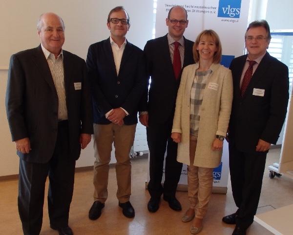 v.l.n.r. Hans Brunhart, Francesco A. Schurr, Georg von Schnurbein, Dagmar Bühler-Nigsch, Christian Verling