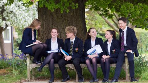 Pupils at Cranleigh School