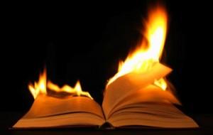 hořící kniha