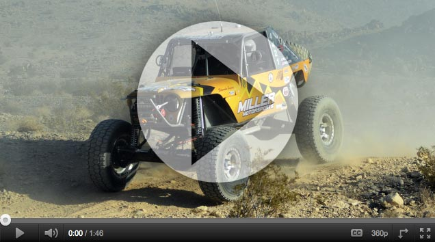 "video image KOH FOX Rock Racing Pilot, Erik Miller, Earns the Title of ""King"" at 2012 King of the Hammers"