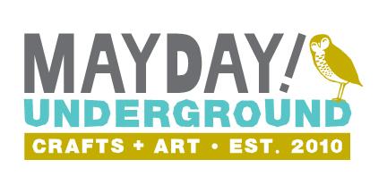 Mayday Underground stylized logo with owl