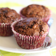 Chocolate Raspbery Low-Guilt Muffins