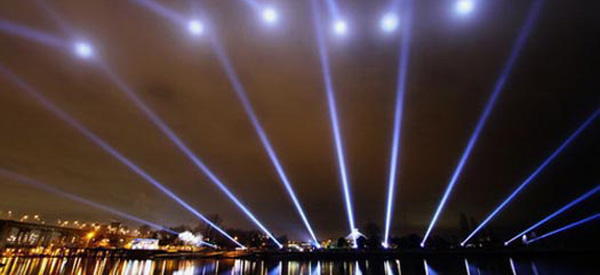 Rafael Lozano-Hemmer, Vectorial Elevation, Relational Architecture 4 (2010) Vancouver, Canada - photo by Maurice Li