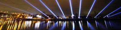 "Rafael Lozano-Hemmer, ""Vectorial Elevation, Relational Architecture 4"" (2010) Vancouver, Canada - photo by Maurice Li"