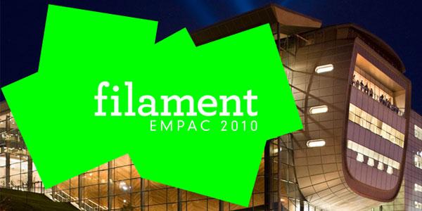 EMPAC: filament festival: Oct 1-3 2010