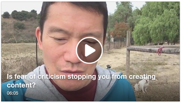Is fear of online criticism holding you back from creating content?