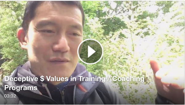 Deceptive $ Values in Training/Coaching Programs