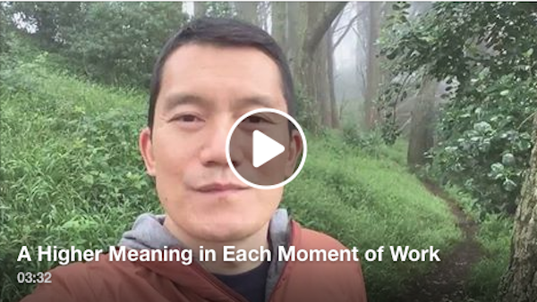 A higher meaning in each moment of work