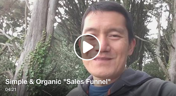 Simple and organic sales funnel