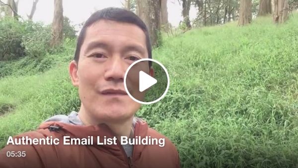 Building an authentic email list