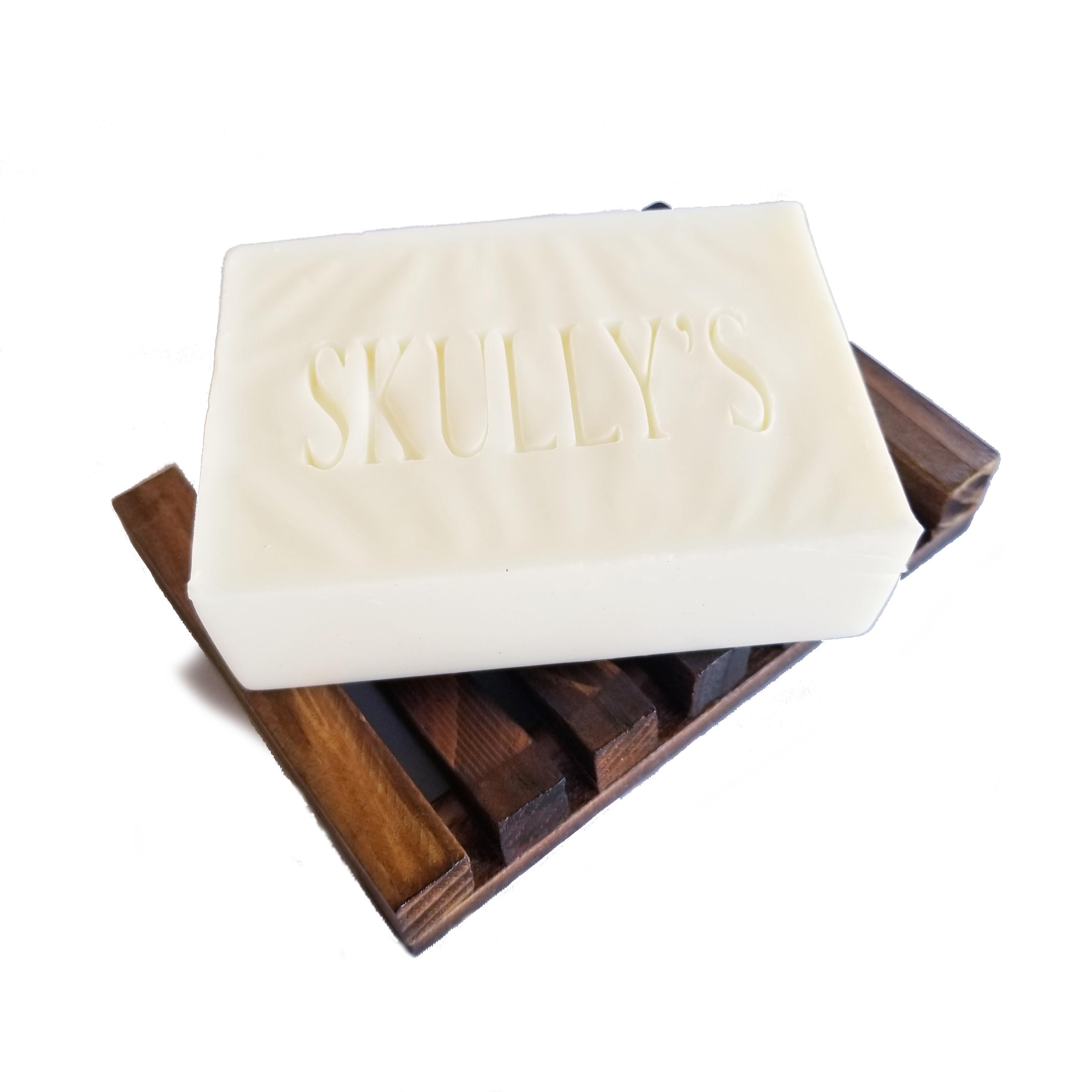 Goats milk soap, unscented, beard soap, by Skully's beard oil