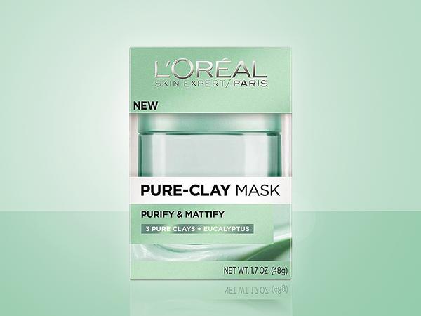 L'Oréal Paris Pure-Clay Mask Collection (folding carton)