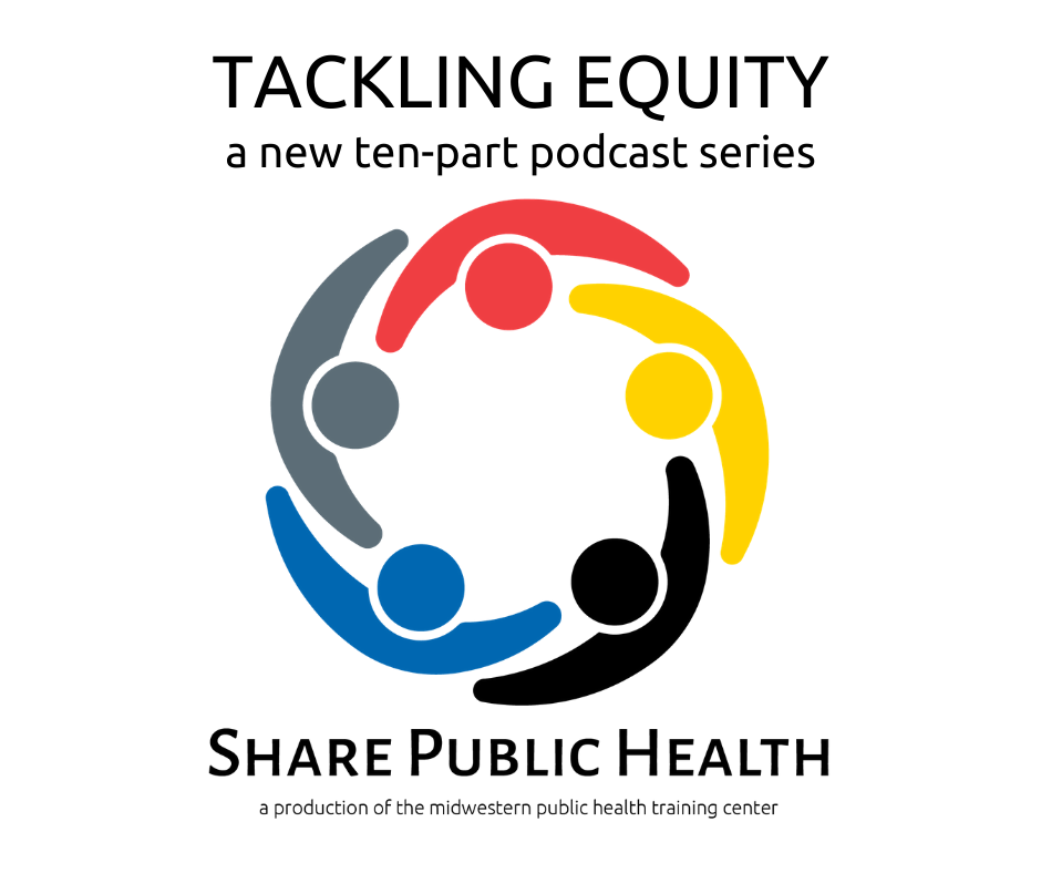 An image promoting Share Public Health: Tackling Equity.