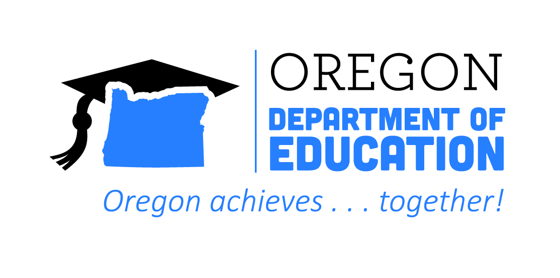 Oregon Department of Education logo. Oregon Achieves Together