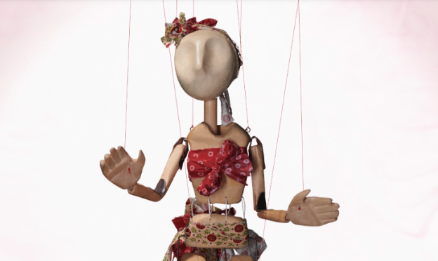 Marionette of a female character
