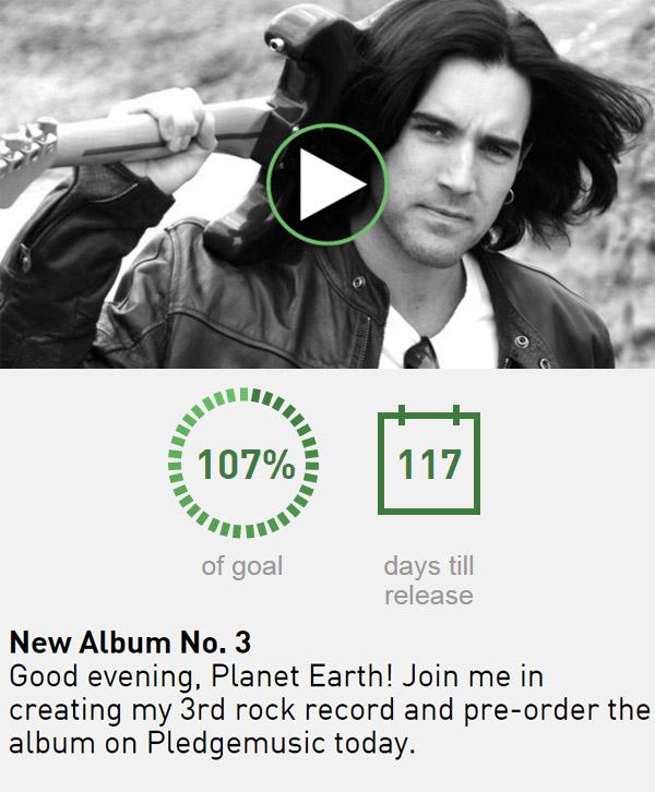 New Album No. 3 Campaign on Pledgemusic