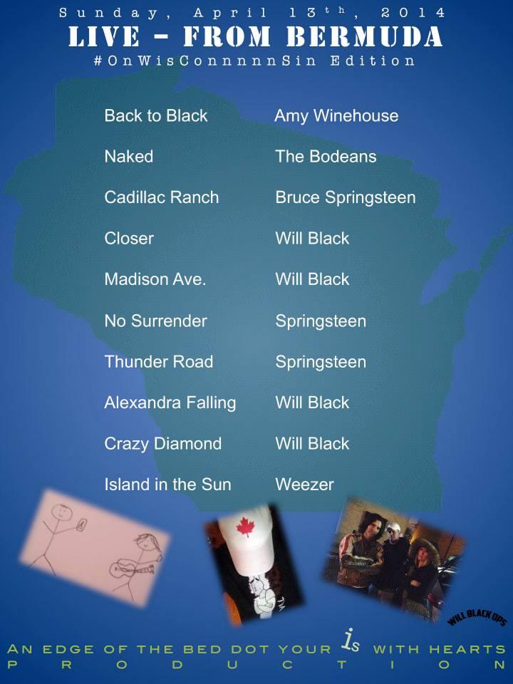 Acoustic Sundays setlist