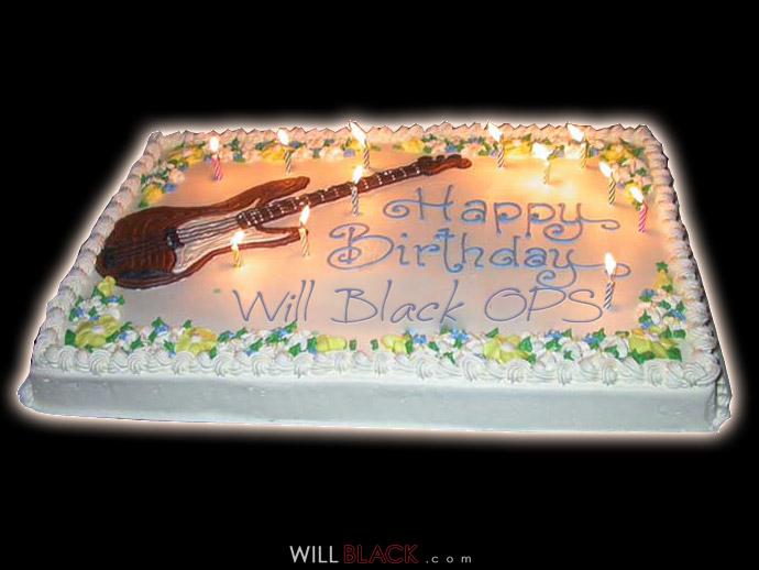 Will Black OPS - 1 YEAR ANNIVERSARY B-DAY CAKE!