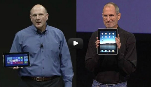 Microsoft Surface Keynote vs iPad Keynote