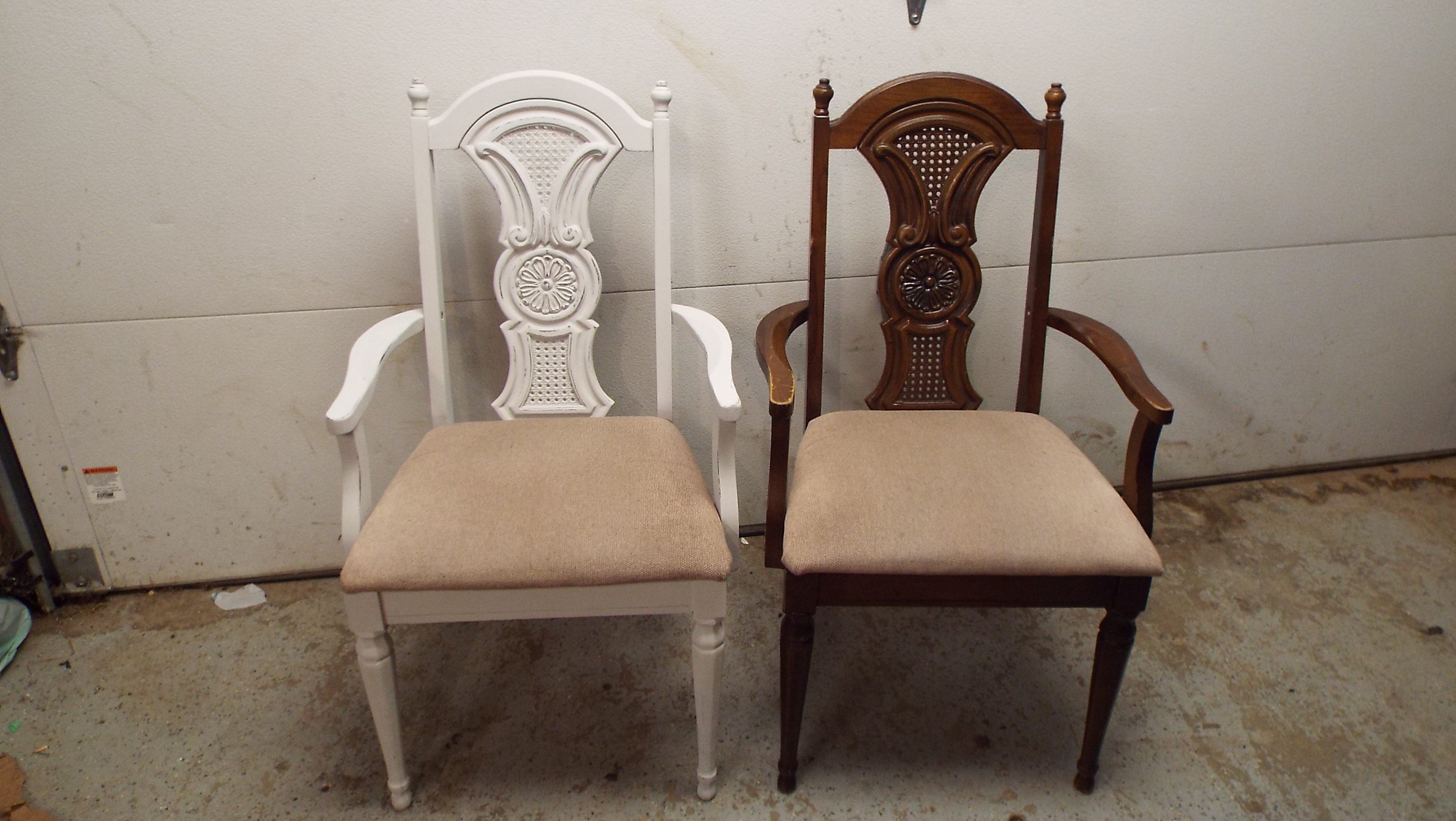 painting chairs with Cottage Paint, The Camellia Thunder Bay