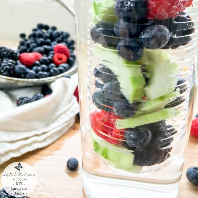 Triple Berry Cucumber Spa Water