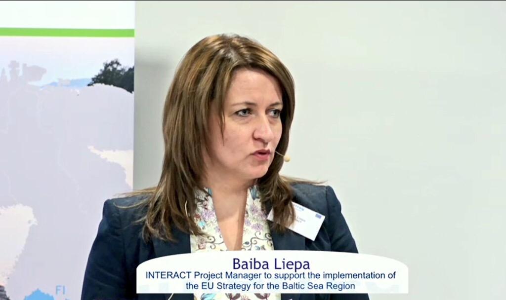 Baiba Liepa talking about EUSBSR
