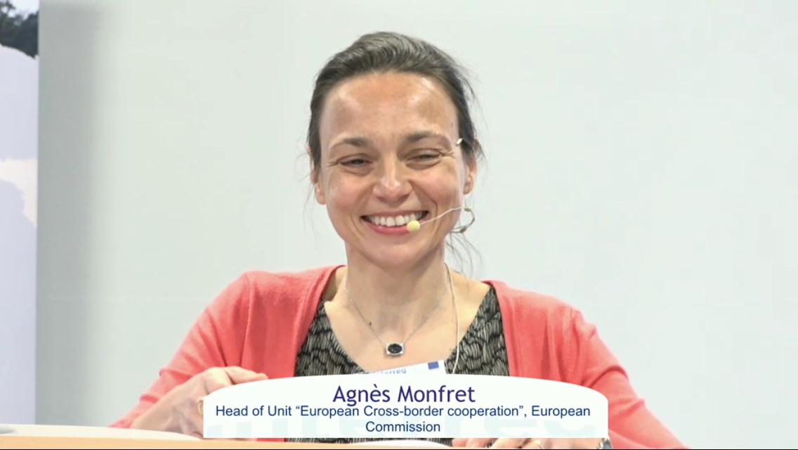 Agnes Monfret talking about Interreg