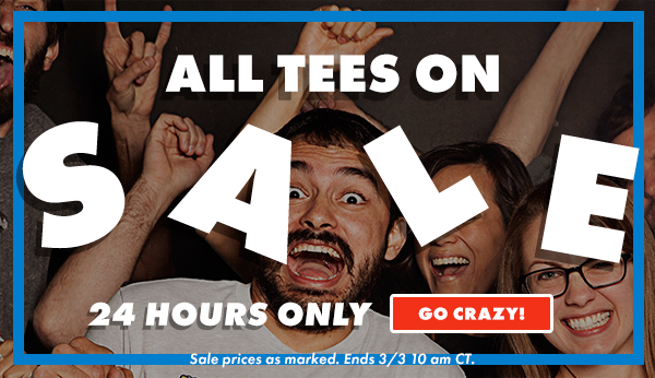All Tees On Sale | Shop Now