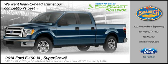 Coast-to-Coast Ecoboost Challenge with teh Ford F-150 at Jim Bass Ford.